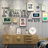 DENGJU Foto Rahmen Familie Collage Massivholz Kombination Wohnzimmer Bilderrahmen Wand Kreative Restaurant Hintergrund Wand Dekoration ( Farbe : B )