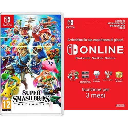 Super Smash Bros Ultimate - Nintendo Switch + 90 Giorni Switch Online Membri (Individual) | Nintendo Switch - Codice download