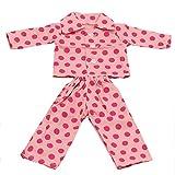 Newin Star Doll Pyjama Nachtwäsche, schöne Barbie-Puppen-Kleidung für American Girl Our Generation Journey Girl Puppe Größe 45,7 cm Kindergeschenk 1 Set