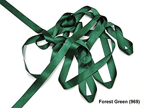 Forest Green 10mm Satin Ribbon Double Sided Berisfords 3501 (10 Meters)