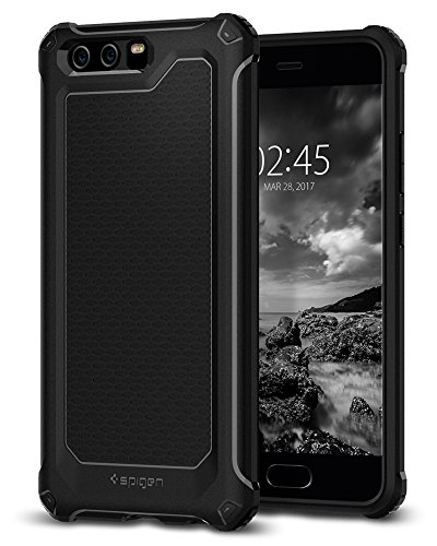 Spigen Rugged Armor Extra, Cover Huawei P10 - Nero