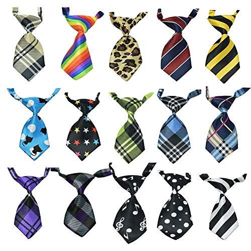Alaof 15Stk Krawatte FüR Hunde Baby Jungs Katze Hund Krawatte Halsband Einstellbar Krawatte