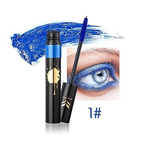 Yogogo 2017 Mascara Volume Waterproof Longue Durée Maquillage Produit de Beauté Bleu