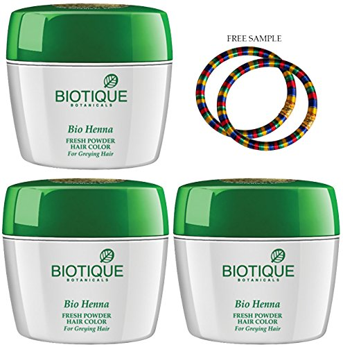90-tage-pack (Biotique Henna Leaf powder-90g – (Pack von 3) –