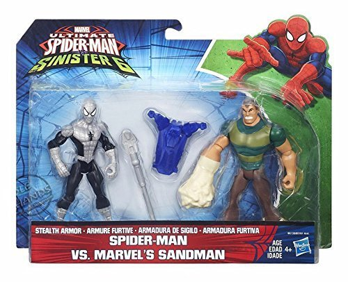 ultimate spider man vs sinister 6 SPIDER MAN VS MARVEL'S SANDMAN uomo sabbia hasbro b6139