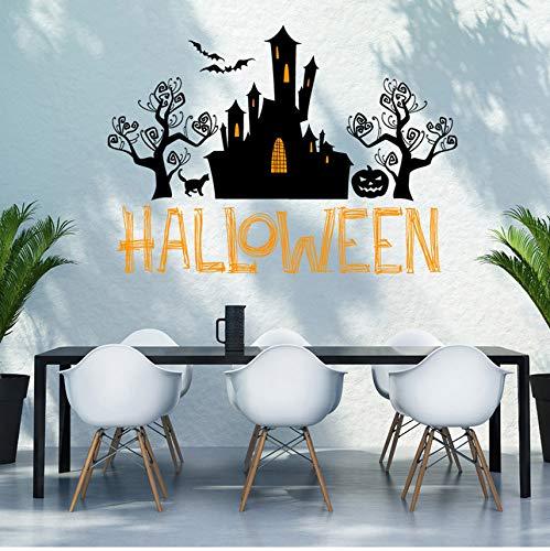Guyuell Happy Halloween Home Haushalt Zimmer Wand Aufkleber Wandbild Dekor Aufkleber Removable New Halloween Dekoration Horror Haus Yard 80X58Cm