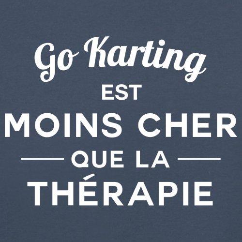 Go Karting est moins cher que la thérapie - Femme T-Shirt - 14 couleur Bleu Marine