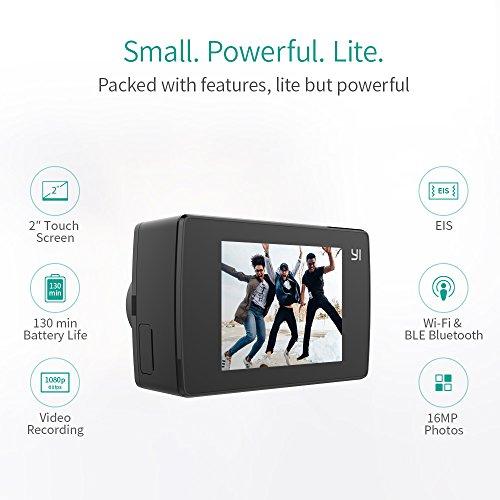 YI-Lite-Action-Camera-4k-con-Custodia-Impermeabile-Videocamera-Action-Cam-4k-16-MP-WIFI-Bluetooth-Touch-screen-da-2-Grandangolo-di-150-Waterproof-Case-Nero