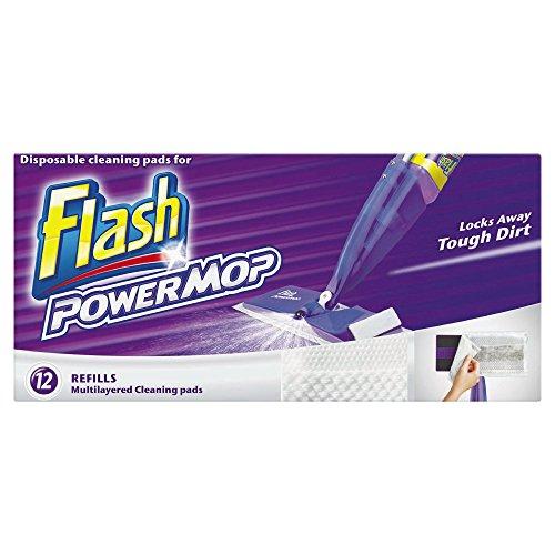 Flash Powermop 12 Refill Cleaning Pads (Pack of 4, Total 48 Pads) (Multi-oberflächen-boden-reiniger)