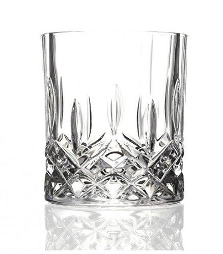 6Opera Maison italienischem Kristallglas 30cl Double Old Fashioned Whisky Tumbler Gläser Old Fashioned Cocktail