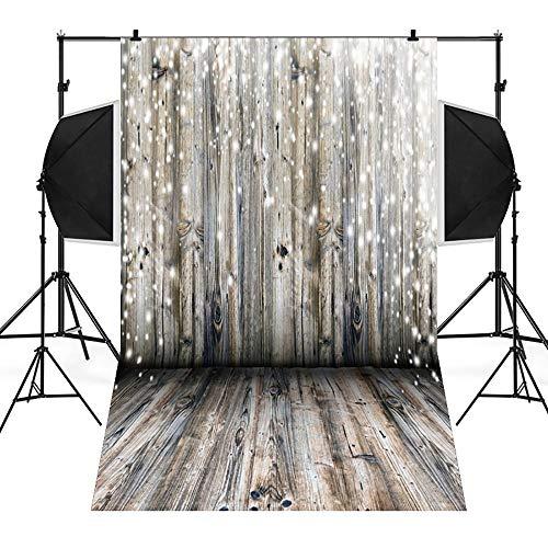 Amphia - Weihnachtshintergrund-Schnee-Vinyl 3x5FT Hintergrund-Fotografie-Studio,Weihnachtsfoto-Studio 3D Studio-Hintergrundtuch 90 * 150cm (Haken Zu Hängen Sie Einen Kranz)