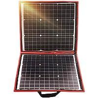 Dokio Panel Solar Plegable monocristalino DE 80 W y 12 voltios con Controlador de Carga inversor