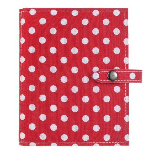 Das Kleine Buch der Ohrringe - Hält 48 Paar Ohrringe auf 4 Seiten - (Farbe Rot mit weißen Punkten)