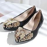 FLYRCX Scarpe da donna piatte strass pieghevoli moda femminile scarpe da  balletto scarpe da lavoro scarpe d1d11b25814