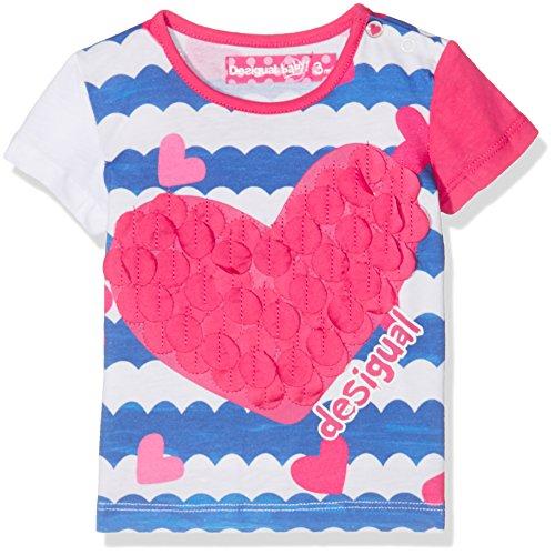 Desigual Baby-Mädchen T-Shirts TS_NATALIA, Weiß (Blanco 1000), 86 (24)