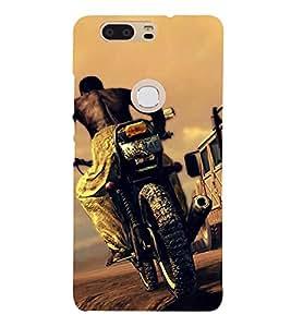 Bike Racing 3D Hard Polycarbonate Designer Back Case Cover for Huawei P8