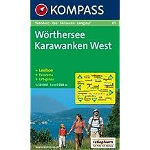 Wörthersee, Karwanken West: Wandern / Rad / Skitouren / Langlauf. Panorama, GSP-genau. 1:50.000