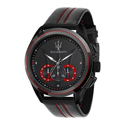 MASERATI Reloj Cronógrafo para Hombre de Cuarzo con Correa en Cuero R8871612023