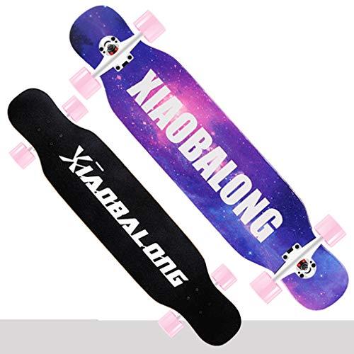 LBYMYB Doppelte Rockerreise des Erwachsenen professionellen Skateboards mit Vier Rädern Skateboard (Color : A) - Skateboard Räder Professionelle