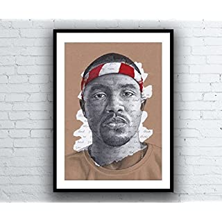 Frank Ocean Portrait Drawing - Giclée art print with Thinkin' Bout You Lyrics - A5 A4 A3 Sizes limited edition signed