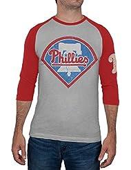 Philadelphia Phillies-Manches Raglan pour homme Motif Logo Alliance