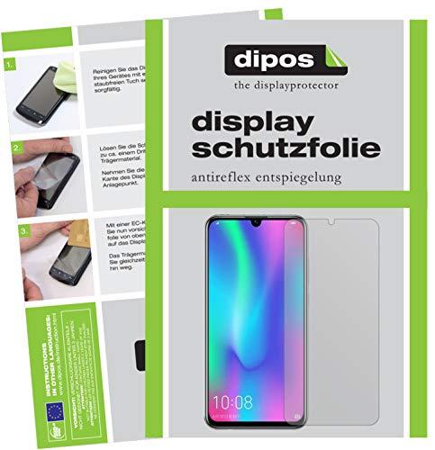 dipos I 2X Schutzfolie matt passend für Honor 10 Lite Folie Bildschirmschutzfolie