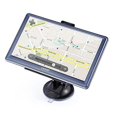 7 Zoll GPS Navi LESHP Europe Traffic Navigationsgerät mit kostenlosen lebenslangen Kartenupdates ganz Europa für PKW KFZ Auto Car Taxi LCD Touch Screen Multi-Sprache Navigation GPS (Navigationsgerät Kaufen)