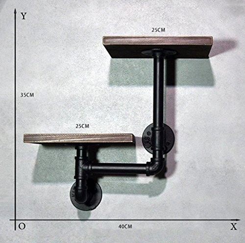 GYP Regal, hängende Aufhänger Wand Retro tun das alte Eisen Rohr Massivholz Laminierte Platten Regal an der Wand kaufen ( größe : B )