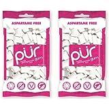 (2 Pack) - Pur Gum - PUR Gum Pomegranate & Mint Bag | 80g | 2 PACK BUNDLE