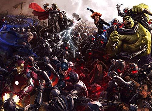 3D Avengers Wallpaper Hulk Iron Herren Captain America Wandwand Jungen Schlafzimmer jede Wandgröße Spiderman