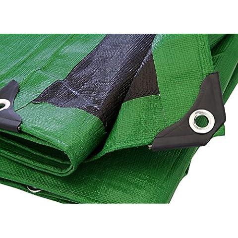 Marca suministros verde/negro resistente lona lona toldo tienda, barco. Rv o piscina cubierta