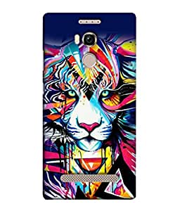 PrintVisa Designer Back Case Cover for Gionee Elife E8 (Cheetah Lion Cat Panther Wild)