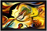 #5: SAF Framed Painting (Wood, 30 cm x 3 cm x 45 cm, Textured UV Reprint, SAO766)