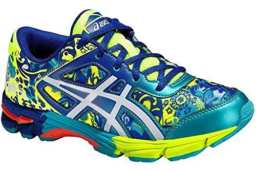 ASICS Chaussures de Sport Gel-Noosa Tri 11 GS Bleu/Lima EU 37,5 (US 5)