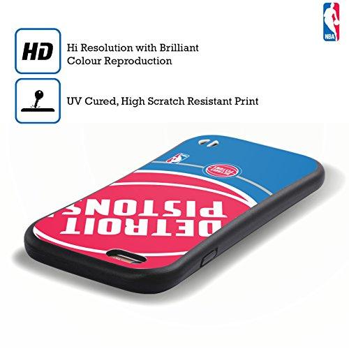 Ufficiale NBA Camouflage Digitale Detroit Pistons Case Ibrida per Apple iPhone 7 / iPhone 8 Icona Oversize