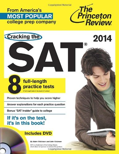 Cracking the SAT with 8 Practice Tests & DVD, 2014 Edition (College Test Preparation) (New Adult Dvd 2014)