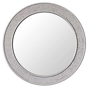 Miroir rond mosa que design moderne salle de bain for Miroir rond mosaique
