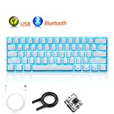Best Accessory Power Backlit Mechanical Keyboards - UrChoiceLtd® Mechanical Keyboard, RK61 Wired / Wireless Bluetooth Review