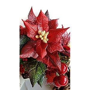 Weihnachtsblume Weihnachtsstern Ton Miniatur Blumen – kaltes Porzellan handgemacht