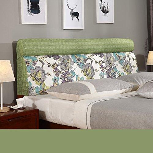 uus Coussin de tête de lit moderne moderne Protecteur de tête de bébé Tissu doux et confortable Tissu en lin Sac souple Coussin de couchage Grand oreiller Lavable 60 * 190cm ( Couleur : M )