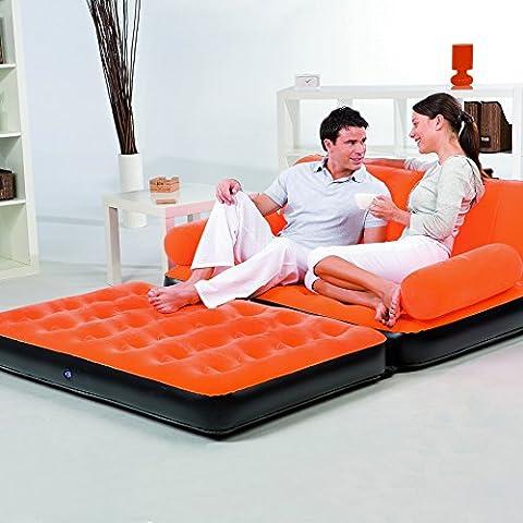 HDWN Doppia divano letto divano gonfiabile floccaggio , orange ,