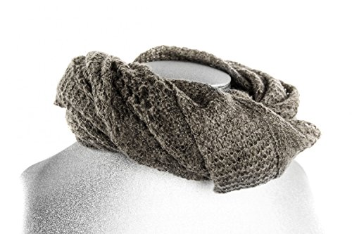 REGINA SCHRECKER étole calda écharpe grand brun cadeau femme free time L1099