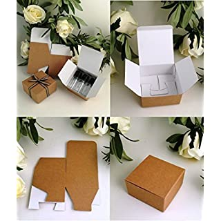 Small Gift Boxes (Code#F) in Kraft Cardboard. PACK OF 10. Flat-Pack Self Assembly Gift Boxes.