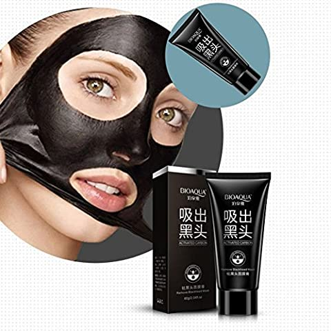 Deep Cleansing Blackhead Remover - Mud Face Mask For Oil-control - Anti-aging Acne Treatment - Cool and Refreshing Black Facial Peel-Off Strawberry Mask