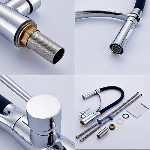 Gimili Wasserhahn Küche Küchenarmatur Waschbecken Mischbatterie Küche Einhandhebelmischer für Badezimmer - 3