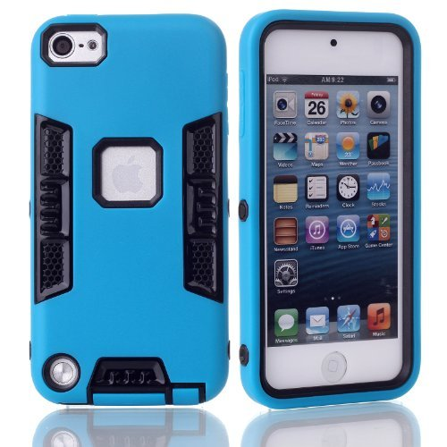 iTouch 5, iPod Touch 6Fall, xrpow 3in1Heavy Duty Schutz Hybrid High Impact Armor Case Schutzhülle Hülle Tasche für Apple iPod Touch 56. Generation, XR-Blue Black (High Impact Hybrid-ipod 5 Fällen)