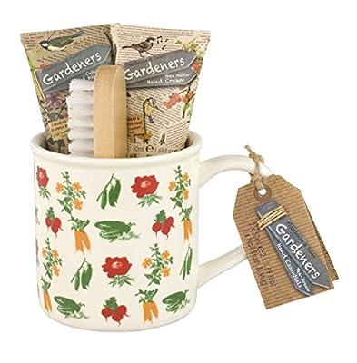 Heathcote & Ivory Gardeners Tea Break Hand Essentials - Wash, Cream, Brush & Mug set