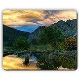 Yanteng Tapis de Souris de Haute qualité, Montagnes du Ciel Autour de la côte Autour du lac, Game Office Mousepad