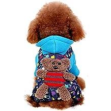 Valoxin(TM) Precioso peque?o para mascotas ropa para perros de perrito caliente de la chaqueta con capucha del invierno de Teddy caniche Chihuahua