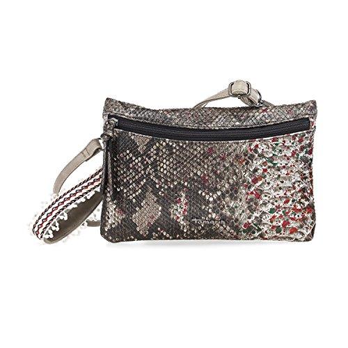 TAMARIS TANJA Damen Handtasche, Clutch Bag, Umhängetasche, 28x19x2 cm (B x H x T), braun comb. braun comb